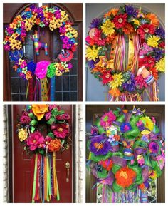 How to make your own colorful wreath inspired by the San Antonio Fiesta festival!
