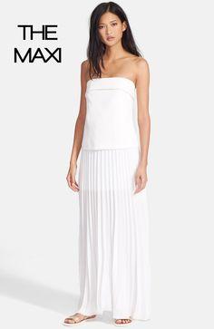 A.L.C. 'Brock' Strapless Crepe Maxi Dress