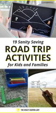 Looking for road trip activities for kids and families or just summer road trip hacks that will keep kids busy on long hauls? The Krazy Coupon Lady has you covered with all the car activities for kids and ways to keep kids entertained on the road that will make all the difference in your level of sanity upon arrival. These kids car games and hacks will allow parents to drive in peace when a little break is needed so you can win at parenting! Road Trip Activities, Activities For Kids, Car Games For Kids, Kerr Jars, Road Trip Hacks, Road Trips, Coupon Lady, Free Cars, Business For Kids
