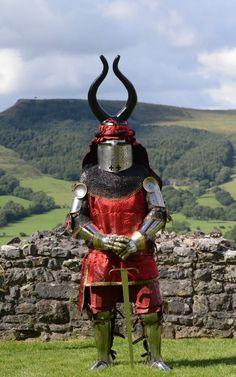 someone's 14th century knight armour.
