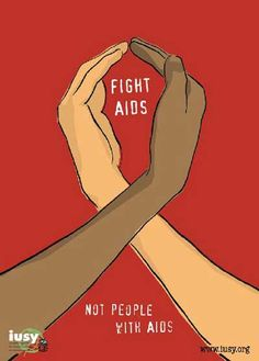 Fight AIDS, not people with AIDS. #respectaids #zerodiscrimination