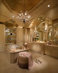 A romantic place to relax and have bubbles take your worries away! #bathroom #spa