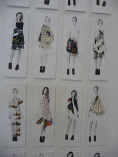 photographed, collages and stitched fashion illustrations