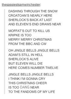 SuperWhoLock Jingle--- this is so awesome, i love the Adam's still in hell line--- who's Adam?<---We forgot Adam again.