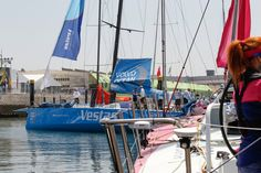 June 6, 2015. The teams dock out for the In-Port Race in Lisbon Ainhoa Sanchez / Volvo Ocean Race