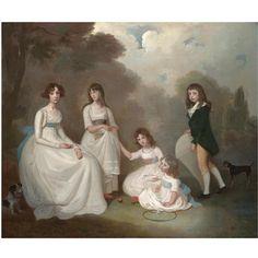 Group Portrait of Children, Francis Alleyne, FL.1774-1790
