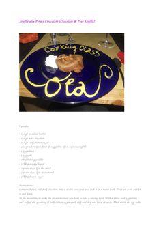 Soufflè alla Pera e Cioccolato (Chocolate & Pear Soufflè)