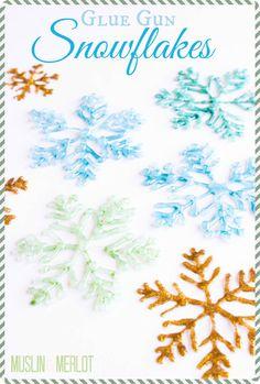 Glue Gun Snowflake Craft