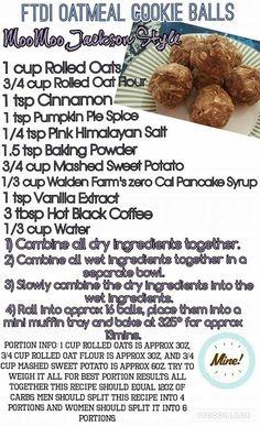 oatmeal cookie balls - moomoo