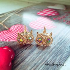 CLEARANCE❗️Fashion Gold Tone Owl Earring Material: Tin alloy, anti allergic, lead and nickel compliant This earring is sure to be a special gift to be enjoyed! Packaged in a lovely Bag!   BRAND NEW WITH TAG SAME DAY OR NEXT DAY SHIPPING  BUNDLE TO SAVE Jewelry Earrings