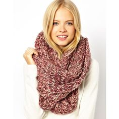 ASOS Multi Knit Snood found on Polyvore