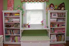 Good idea for a kids desk/seating area