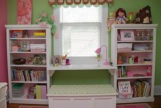 Good idea for a kids desk/seating area