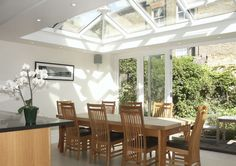 Roof Lantern in dining area of kitchen extension in London