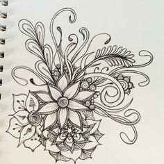 Share Tweet Pin Mail Inspired by the below artwork by ashleyinzer on flicker these floral doodles are just quickie doodles during TV time with ...