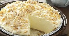 This creamy No-Cook Coconut Pie proves that a quick meal doesn't have to go without dessert. —Jeanette Fuehring, Concordia, packages ounces each) instant vanilla pudding mix Coconut Pudding, Vanilla Pudding Mix, Pudding Recipe, Tart Recipes, Sweet Recipes, Cooking Recipes, No Bake Desserts, Delicious Desserts, Dessert Recipes