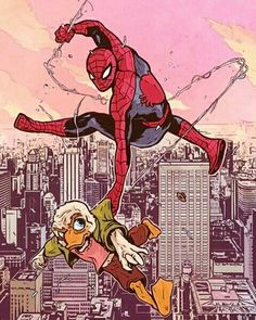 spidey and howard the duck