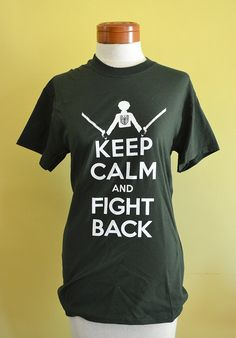 Attack on Titan Keep Calm and Fight Back Tshirt by helloneko, $25.00