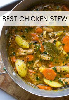 One-Pot Chicken Stew Dinner Recipes stew recipe Best Chicken Stew, Stew Chicken Recipe, Chicken Recipes, Recipe Stew, Recipe Recipe, Slow Cooker Chicken Stew, Chicken Potato Soup, Chicken Soups, Chicken Vegetable Soup Crockpot