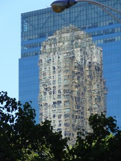 Amazing reflection of Trump Tower on Harborside Tower, NYC