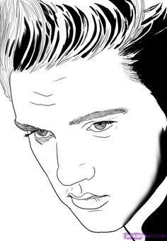how to draw elvis presley step 6