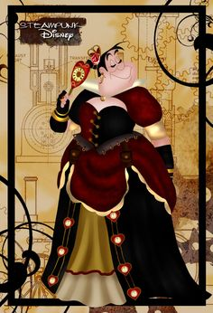 Steampunk Queen of Hearts by ~HelleeTitch on deviantART