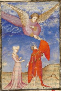Titre :  « L'Epistre Othea la deesse, que elle envoya à Hector de Troye, quant il estoit en l'aage de quinze ans » [par CHRISTINE DE PISAN].  Date d'édition :  1401-1500  Français 606  Folio 39v