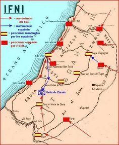 Campañas militares en Ifni. Fuente: http://www.sidi-ifni.com/