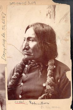 Chief Red Horse, Lakota Sioux, a participant of the Battle of Little Bighorn, is known for documenting the battle with 41 ledger drawings.