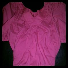 {Old Navy} 2- flutter sleeve blouses Old Navy Flutter Sleeve Blouses  Quantity = 2 (Black & Pink) Size Medium Short sleeves, Elastic Waist, V-neck Lightweight, Easy to Care for Fabric 100% Cotton NWOT - FLAWLESS  These tops are awesome for those days when you aren't feeling your skinniest.  They have a loose fit but gathered elastic waist.  The v-neck, flutter sleeves, and gathered waist create an effortless chic look.  Love these tops!!! Old Navy Tops Blouses