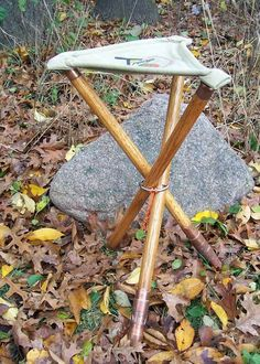 Walking stick that converts to a camp stool ~ genius!