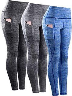 f3551c75db Neleus Tummy Control High Waist Workout Running Leggings for  Women,9033,Yoga Pant 3
