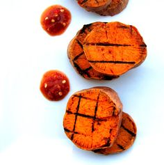Roasted & GRILLED Sweet Potatoes w/ HOT as $h!% Habanero Sauce