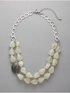 chunky bead necklace / this would be cool with all white pearls, then one black or all sterling then one copper....