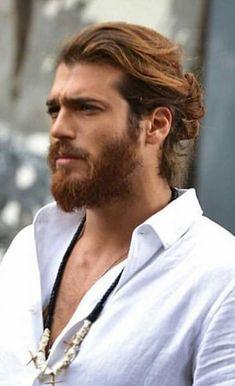 Turkish Men, Turkish Actors, African Prom Dresses, Man Bun, Raining Men, Hair And Beard Styles, Facial Hair, True Beauty, Bearded Men