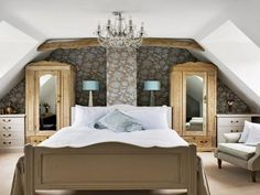 Bedroom Design, Decorated Both Wooden Wardrobe Mirror With Wall Mural In Bedroom Design Ideas For Young Women: Fantastic Bedroom Ideas for y...