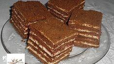Csokis Marlenka | Nosalty Hungarian Cookies, Hungarian Desserts, Sweet Recipes, Tiramisu, Sweet Tooth, Good Food, Dessert Recipes, Food And Drink, Cooking Recipes
