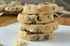 Peanut Butter Chocolate Chip Shortbread Cookies-