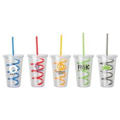 """Double Wall Tumbler With Colored Curly Straw http://www.logotoyou.com/16-oz-Double-Wall-Tumbler-With-Colored-Curly-Stra-p/km6111.htm  Production & Shipping  Production Time: 5-7 Working Days  (After artwork and credit approval) Carton Size: 17"""" W x 10"""" H x 25"""" L Carton Weight: 13lbs / 24pcs  (Approximate figures)"""