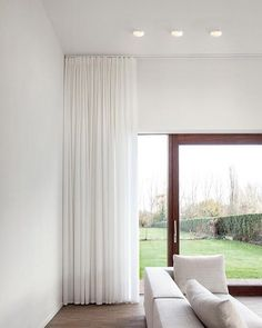 The Cool Curtains From Ceiling To Floor Decorating with Smart Lighting Family Supermodular Living Room Lighting 11274 above is one of pictures of home deco Floor To Ceiling Curtains, Home Curtains, Curtains With Blinds, Sheer Curtains Bedroom, White Sheer Curtains, Modern Curtains, Contemporary Curtains, Drapery, Tall Curtains
