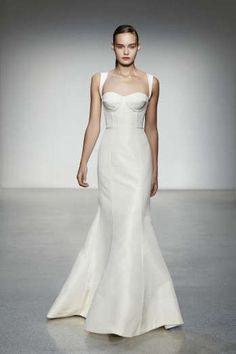 Beautiful Led By Handing Mermaid Sweep Sweetheart Neckline Taffeta Wedding Dress #modern_wedding_dress