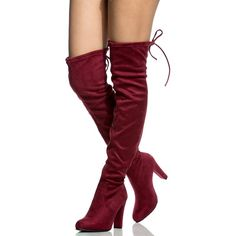 5513faae391 Women s Diva Thigh High Over The Knee - Drawstring Block Chunky Heel Pointy  Round Toe - Stretchy Thigh High Snug Fit Boots