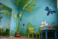 Kids Room Jungle Wall Mural Ideas Anoninterior In Forest For Household. Interior Designs Gallery at Wall Murals For Kids Childrens Jungle Bedrooms, Childrens Room Decor, Modern Kids Bedroom, Kids Bedroom Designs, Bedroom Ideas, Design Bedroom, Bedroom Wall, Jungle Room, Jungle Theme
