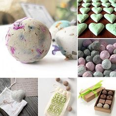 Seed bombs! http://www.destinos-blog.com/blog/eco-friendly-favors-seed-bombs?utm_content=buffer87249&utm_medium=social&utm_source=pinterest.com&utm_campaign=buffer Great gifts for any kind of Event! Birthday parties, baby showers, weddings...