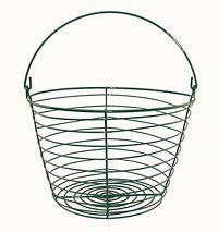 Must Have this basket!  3 sizes... small basket holds up to 3 dozen eggs. That should be plenty of room!