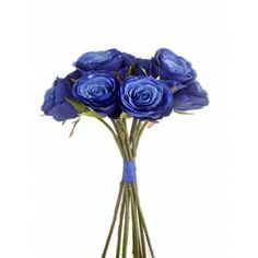 Artificial Blue Mood Rose Bundle Dark Blue