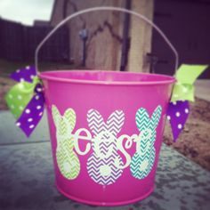 Personalized Easter Bucket by Tootlebugs on Etsy, $22.00