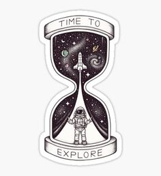 Stickers Time to Explore Sticker Tumblr Stickers, Cool Stickers, Printable Stickers, Laptop Stickers, Art Sketches, Art Drawings, Eagle Nebula, Tumblr Png, Retro Wallpaper