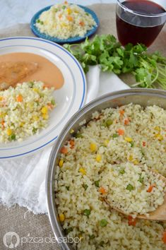 Arroz blanco a la mantequilla o arroz blanco con verduras www.pizcadesabor.com