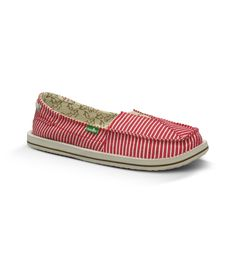New Sanuk styles are here! Introducing... The Castaway in red/white  - www.sanuk.com